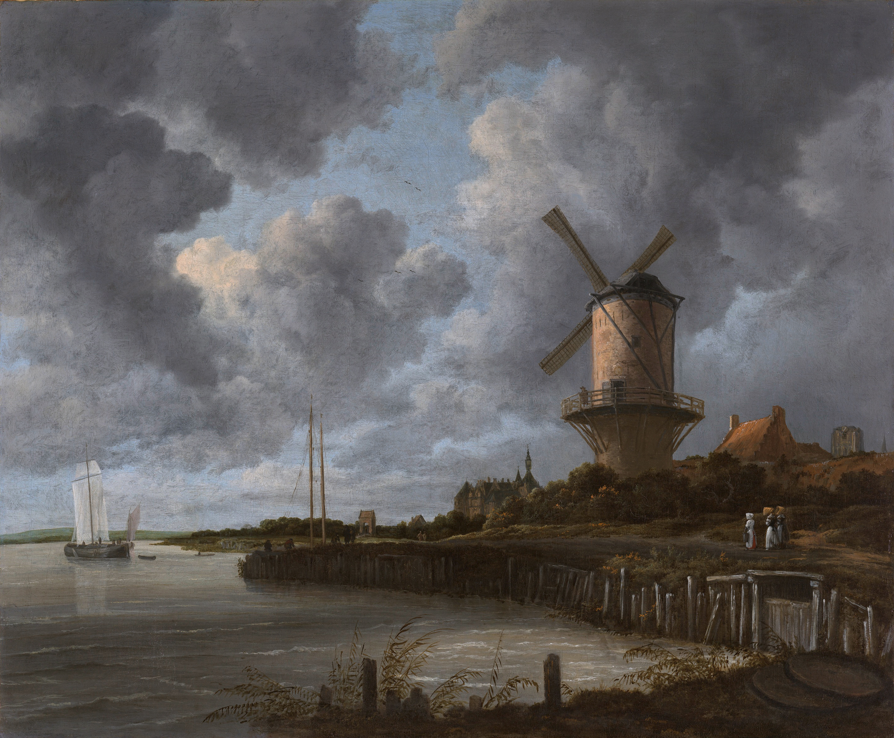 The windmill at Wijk bij Duurstede *oil on canvas *83 x 101 cm *ca. 1668 - ca. 1670 *signed : Ruisdael