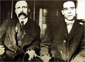 Bartolomeo Vanzetti (links) en Nicola Sacco.
