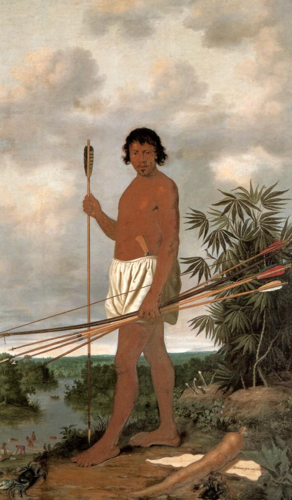 'Tupi-man', schilderij van Albert Eckhout, 1643.