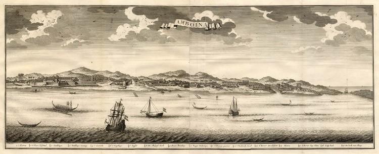 Het VOC-gebied Amboina (Ambon), kaart uit 1724-1726