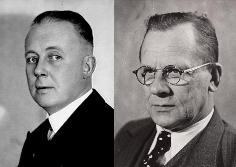 Carel Goseling en Louis de Visser. Bron: Geheugen van Nederland