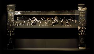 Figuur 1: een reconstructie van de kline van vermoedelijk Philip II, Polycentric Museum of Aigai