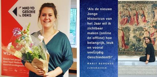 Marit Berends Jonge Historicus van het Jaar 2019