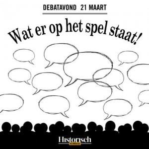 Wisselrecensie – Debatavond 'Wat er op het spel staat!' Een historische blik op heden en toekomst.