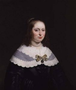 BAL43451 Portrait of Sophia Trip, Wife of Balthasar Coymans by Helst, Bartolomeus van der (1613-70) Johnny van Haeften Gallery, London, UK Dutch, out of copyright