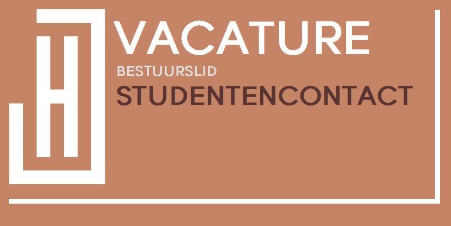 Vacature: bestuurslid Studentencontact